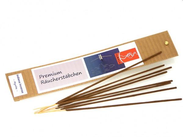 """Indiana Incense """"Myrrhe"""" - handgemacht - Premium Räucherstäbchen"""
