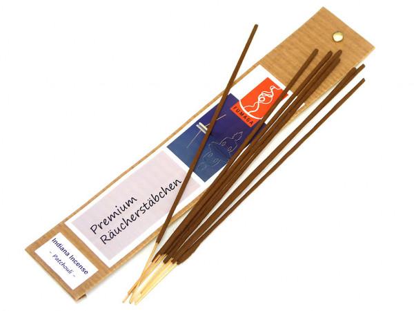"""Indiana Incense """"Patchouli"""" - handgemacht - Premium Räucherstäbchen"""