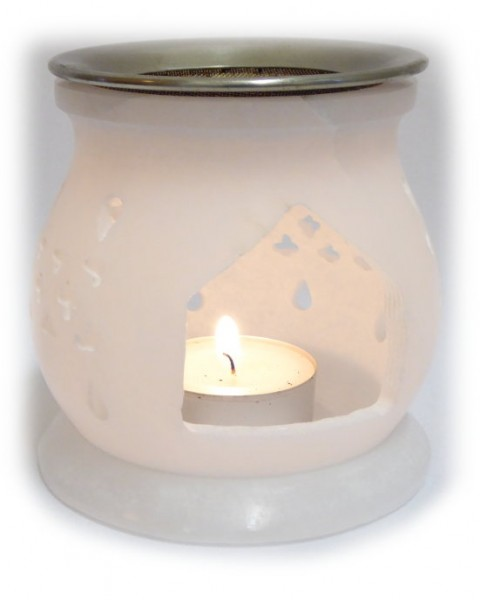 """Duftlampe """"Nofretete"""" aus Alabaster weiß"""