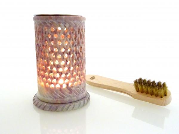 """Räucherlampe """"Filigran"""" Ø 6,5 cm, H: 11,0 cm aus Speckstein"""
