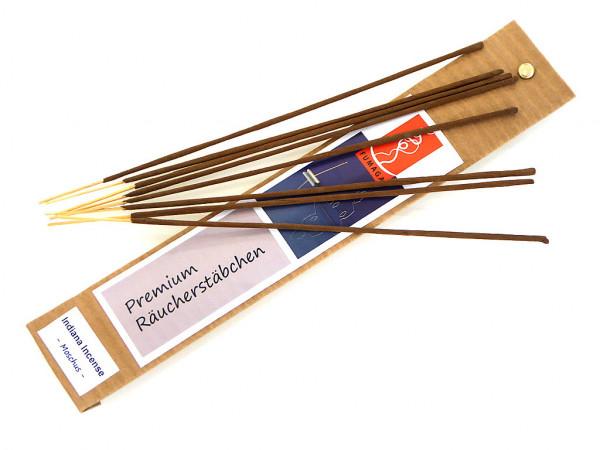 """Indiana Incense """"Moschus"""" - handgemacht - Premium Räucherstäbchen"""