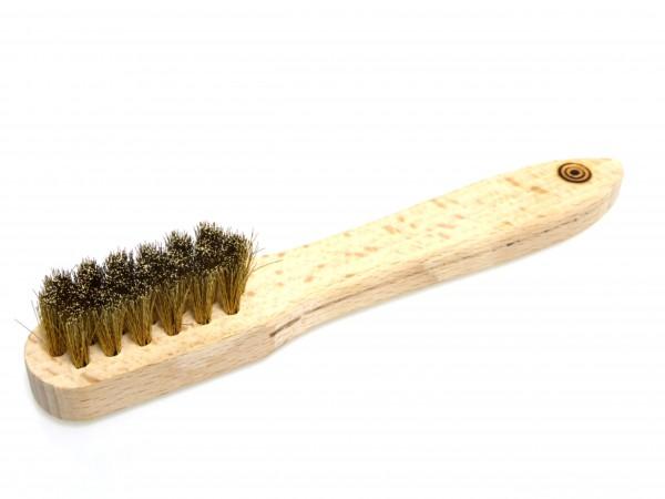 Formschöne und handliche Räucherbürste aus Holz